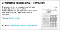 Zelfreflectie formulierCBR